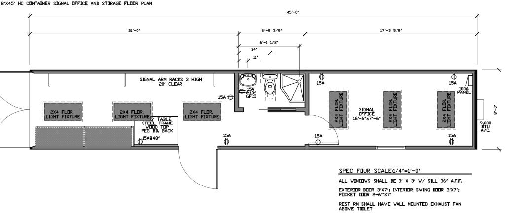 8x45 Signal Office & Storage